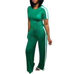 Size S Small Green 2 Piece Outfit Tracksuit New